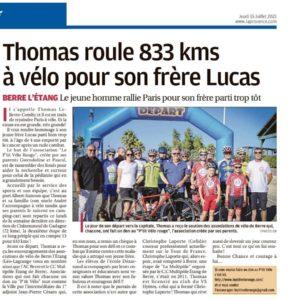 Léo Lagrange Berre l'étang avec le courageux Thomas !